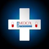 Fond médical avec la croix blanche Photos libres de droits