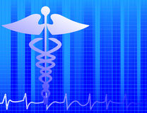 Fond médical bleu Image libre de droits