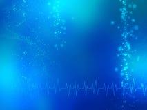 Fond médical bleu abstrait Image libre de droits