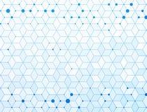 Fond médical bleu de connexion de molécules Photo stock
