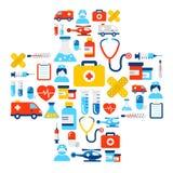Fond médical d'icônes Images stock