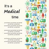 Fond médical de style plat avec l'endroit pour le texte Image stock
