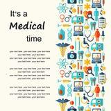 Fond médical de vecteur avec l'endroit pour le texte Image stock