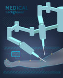 Fond médical L'avenir de la chirurgie Vecteur illustration de vecteur