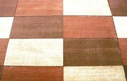 Fond mélangé de texture de carrelage de rectangles, brun et blanc images libres de droits
