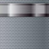 Fond métallique abstrait de grille Images stock