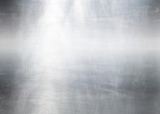 Fond métallique argenté balayé Photo libre de droits