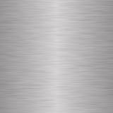 Fond métallique argenté balayé Photographie stock libre de droits