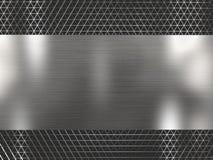 Fond métallique argenté de grille de rendu photo libre de droits