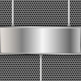 Fond métallique avec l'espace pour le texte. illustration de vecteur