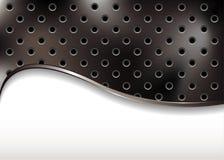 Fond métallique avec l'onde illustration stock