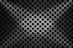 Fond métallique avec les trous ronds Photo libre de droits