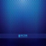 Fond métallique bleu de grille illustration stock