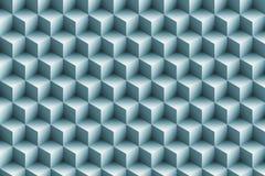 fond métallique bleu des cubes 3d Image libre de droits