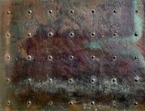 Fond métallique de texture de feuille Photographie stock