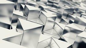 Fond métallique gris de triangles Photos libres de droits