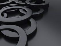 Fond métallique noir Photo stock