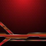Fond métallique rouge abstrait de concept de technologie de modèle de texture d'hexagone de cadre Photo stock
