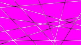 Fond magenta doux avec les lignes métalliques croisées illustration libre de droits