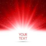 Fond magique abstrait de lumière rouge Photos libres de droits