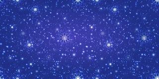 Fond magique de l'hiver texture répétée brouillée Flocons de neige et papier peint snowfalling contexte féerique Bon choix pendan illustration de vecteur