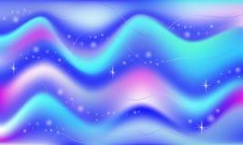 Fond magique de sirène de vecteur de lueur de l'espace féerique Bel univers rougeoyant Maille d'arc-en-ciel Bannière multicolore  Image stock