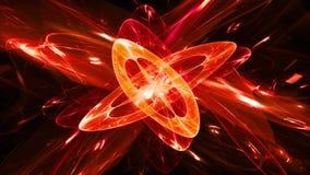 Fond magique rougeoyant ardemment d'abrégé sur quantum illustration stock