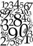 Fond magnifié de numéros illustration stock