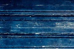 Fond matériel en bois bleu pour le papier peint de vintage - bleu-foncé Photographie stock libre de droits