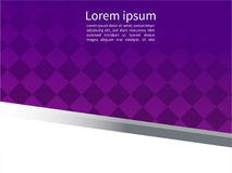Fond matériel géométrique abstrait pourpre et blanc de conception, Photographie stock libre de droits