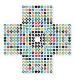 Fond médical de signe de croix de dépendance de media social Photos libres de droits
