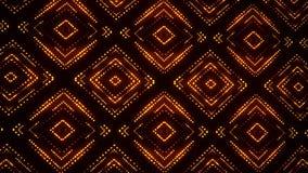 Fond mené rougeoyant de mouvement de boucle du kaléidoscope VJ de particules d'or banque de vidéos