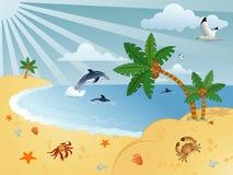 Fond merveilleux d'été Images libres de droits