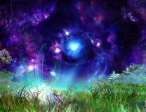 Fond merveilleux de conte de fées Image stock
