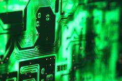 Fond micro de l'électronique Photographie stock libre de droits