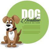Fond mignon d'annonce de chien de bande dessinée Photo stock