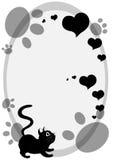 Fond mignon de chat noir Photographie stock