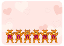 Fond mignon de couleur avec Teddy Bears Photographie stock libre de droits