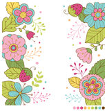 Fond mignon de fleurs de ressort en pastel Images libres de droits