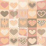 Fond mignon de valentine Image libre de droits
