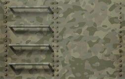 Fond militaire avec l'illustration de camouflage et d'échelle 3d Photographie stock libre de droits