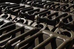 Fond militaire de boîtes métalliques image libre de droits