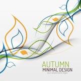 Fond minimal floral d'automne Photo stock