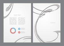 Fond minimal onduleux abstrait Image libre de droits