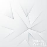 Fond minimalistic carré La feuille de livre blanc avec le résumé a affilé des éléments dirigés au même lieu Images stock