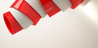 Fond minimalistic moderne, cône en plastique, rendu de la pyramide 3d illustration stock