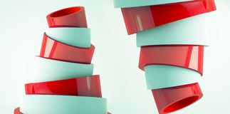 Fond minimalistic moderne, cône en plastique, rendu de la pyramide 3d illustration de vecteur