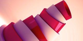 Fond minimalistic moderne, cône en plastique, rendu de la pyramide 3d illustration libre de droits