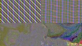 Fond miroitant rêveur de mauvais Cyberpunk géométrique d'imitation de TV illustration libre de droits
