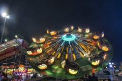 Fond mobile de lumières de Luna Park photos libres de droits